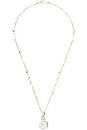 Yoko London 18kt yellow gold Starlight South Sea pearl and diamond necklace