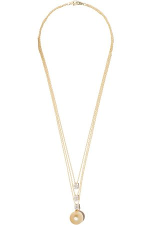 Yoko London 18kt yellow gold Starlight Golden South Sea Pearl and diamond necklace