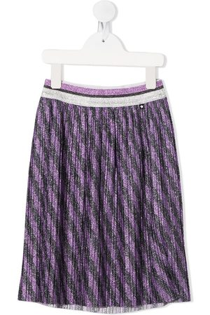 Molo Kids Striped-print pleated skirt
