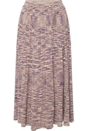 ULLA JOHNSON Marlie skirt with lurex trim