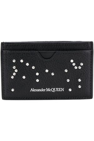 Alexander McQueen Crystal-embellished leather cardholder