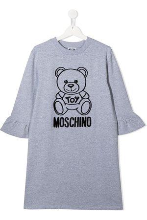 Moschino Textured design long-sleeve dress
