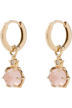 Andrea Fohrman 14kt rose quartz earrings