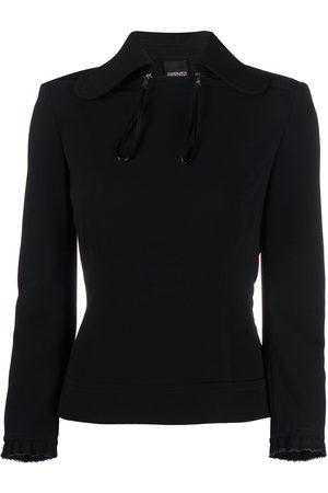 Gianfranco Ferré 1990s zipped chest long-sleeved blouse