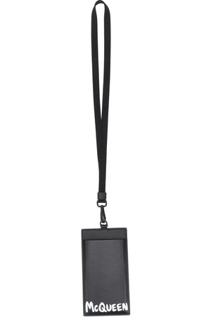 Alexander McQueen McQueen graffiti strap card holder