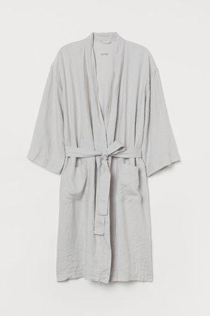 H&M Badjas van gewassen linnen