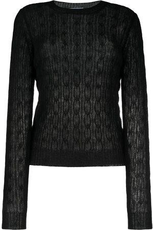 Prada Semi-sheer knitted jumper