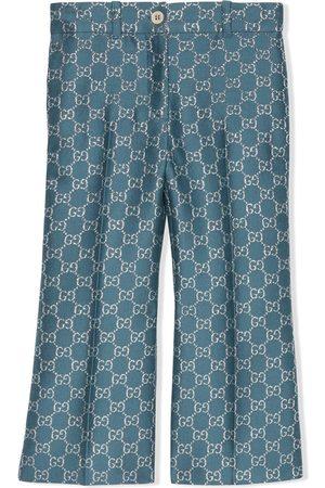 Gucci GG lamé-effect trousers