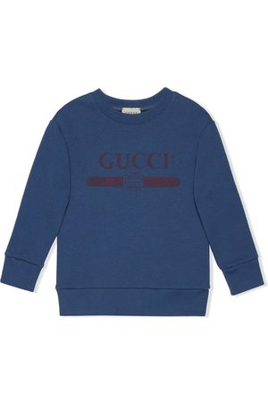 Gucci Logo-print long-sleeved sweatshirt