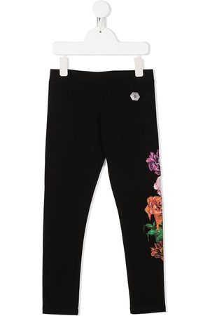 Philipp Plein Floral slim-fit leggings