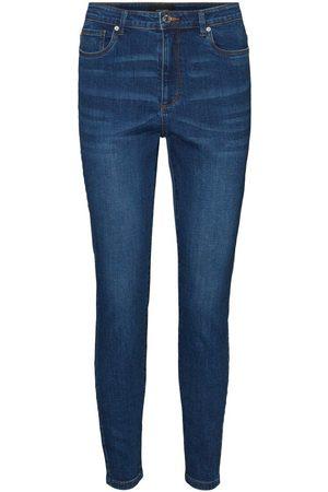 Vero Moda Dames High waisted - High-waist Skinny Jeans Dames Blauw