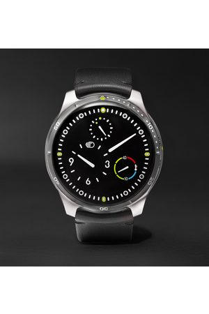 Ressence Heren Horloges - Type 5 Mechanical 46mm Titanium and Leather Watch, Ref. No. TYPE 5B
