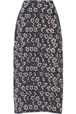 RIXO London Georgia Printed Silk Midi Skirt