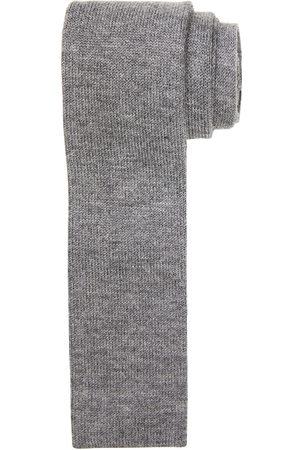 Profuomo Heren Grey knitted kasjmier stropstropdas heren