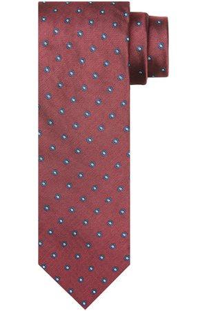 Profuomo Rode zijden print stropstropdas heren