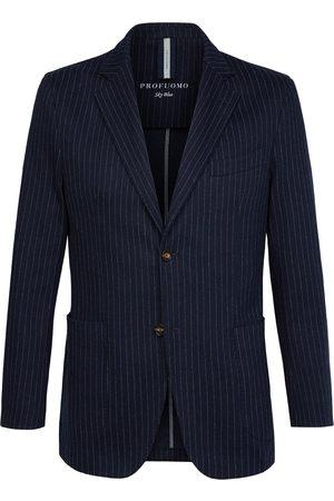 Profuomo Jacket knit pinstripe navy heren