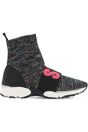 Stella McCartney Logo Knit Sock Sneakers