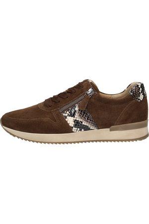 Gabor Dames Lage sneakers - Sneakers Laag - Donkerbruin