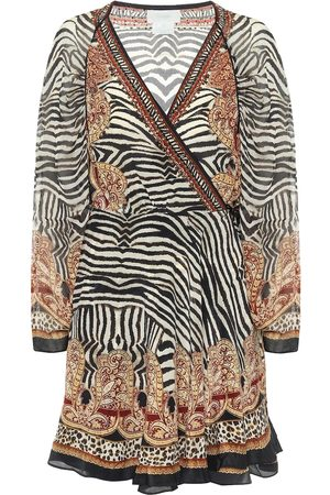 Camilla Dames Korte jurken - Printed silk wrap mini dress