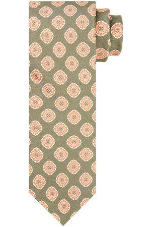 Profuomo Groene bloemenprint stropstropdas heren