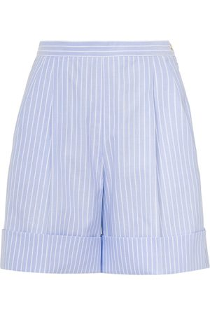 Miu Miu Striped Oxford shorts