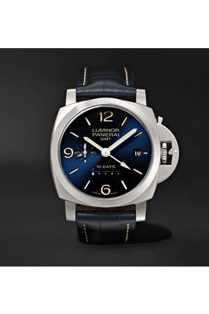 PANERAI Luminor 1950 10 Days GMT Automatic 44mm Stainless Steel and Alligator Watch, Ref. No. PNPAM00986