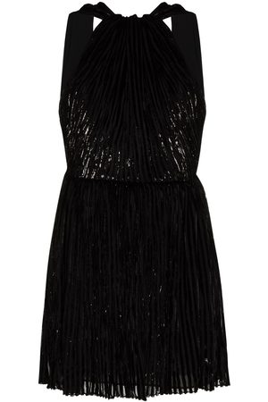 Saint Laurent Beaded halterneck mini dress