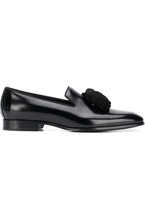 Jimmy Choo Foxley leather tassel loafers