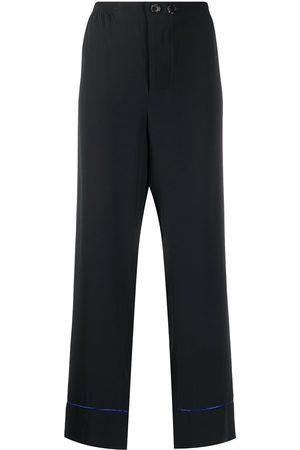 Marni Contrasting trim straight-leg trousers