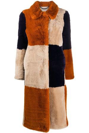 Stella McCartney Fur Free Fur panelled coat