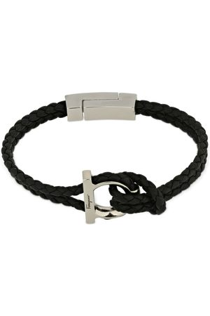 Salvatore Ferragamo 17cm Gancio Braided Leather Bracelet