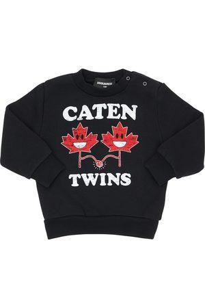 Dsquared2 Twins Printed Cotton Sweatshirt