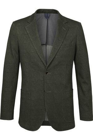 Profuomo Jacket knitted hopsack green heren