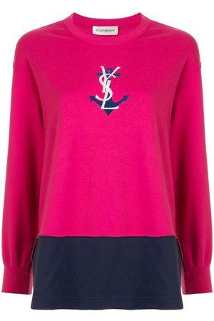 Yves Saint Laurent Logo anchor print T-shirt