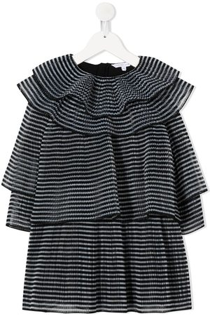 Marc Jacobs Micro-pleated ruffled dress