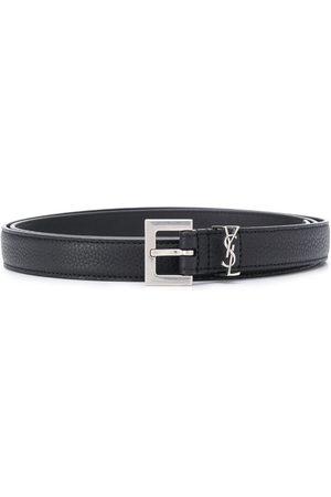 Saint Laurent Monogram appliqué adjustable belt
