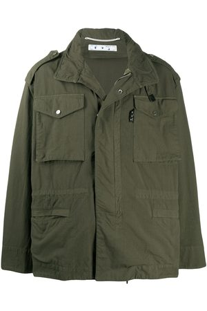 OFF-WHITE ARROW FIELD JACKET MILITARY BLACK