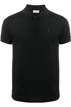 Saint Laurent Embroidered logo polo shirt