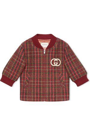 Gucci Bomberjacks - Check print bomber jacket