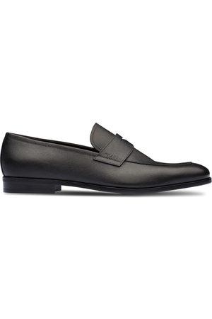 Prada Saffiano penny loafers