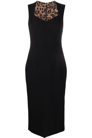 Dolce & Gabbana Fitted dress with sweetheart neckline