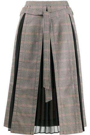 Rokh Contrast panel midi skirt