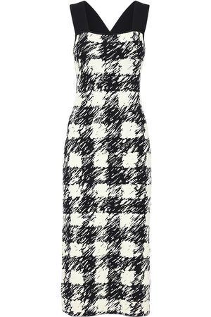 PROENZA SCHOULER WHITE LABEL Gingham Jacquard Knit Dress
