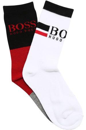 HUGO BOSS Set Of 2 Knit Cotton Blend Socks
