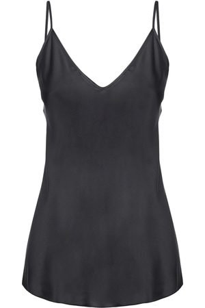 Max Mara V Neck Stretch Silk Satin Tank Top