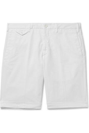 Incotex Heren Bermuda's - Slim-Fit Stretch-Cotton Twill Bermuda Shorts