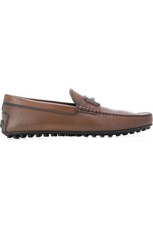 Tod's T logo plaque loafers