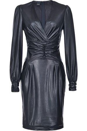 Pinko Dames Feestjurken - Textured ruched style dress