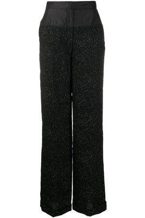 Gianfranco Ferré 1990s sequinned loose trousers