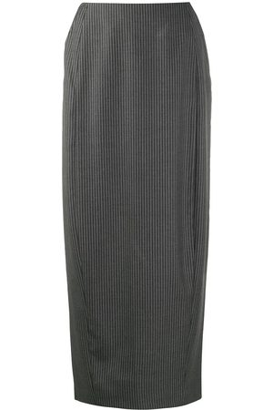 Gianfranco Ferré 1990s pinstripe midi pencil skirt
